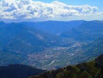 Une belle vue à la ville de Trento Photographie stock