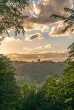 Une belle vue de château de Turaida Photo stock