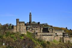 Une belle vue de colline de Calton à Edimbourg, Ecosse image libre de droits