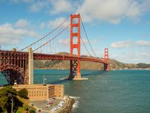 Une belle vue de golden gate bridge Photos stock