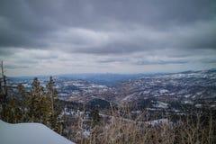 Une belle vue de paysage forestal en Cedar Breaks National Monument, Utah photo stock