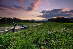 Une bicyclette photographie stock