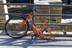 Une bicyclette de roue Photographie stock