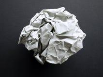 Une bille de papier Photo stock