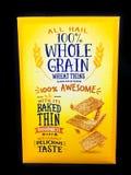 Une boîte de blé de Nabisco amincit sur un contexte noir Images libres de droits