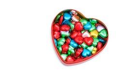 une boîte de bonbons au chocolat en forme de coeur Photos libres de droits