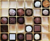 Une boîte de chocolats belges images libres de droits