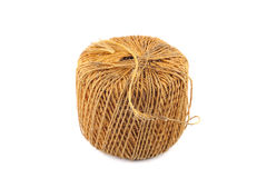 Une bobine de corde approximative de paille Photos stock