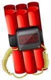 Une bombe avec une minuterie Image libre de droits