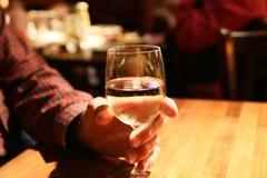 Une bonne glace de vin Photographie stock libre de droits