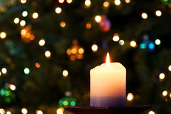 Une bougie de Noël Images stock