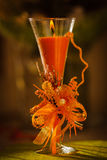 Une bougie orange Photographie stock