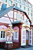Une boulangerie traditionnelle de Noël sur le marché de Noël à Dresde, Allemagne Inscription dans la boulangerie allemande de Noë Photo stock