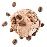 Une boule de glace de café d'en haut photo libre de droits