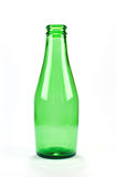 Une bouteille à bière verte Image stock