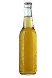 Une bouteille de bière sur le fond blanc. photographie stock libre de droits