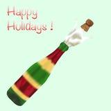 Une bouteille de champagne Photographie stock