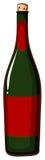 Une bouteille de champaigne Image stock