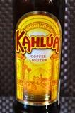 Une bouteille de liqueur de café Kahlua Photographie stock libre de droits