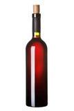 Une bouteille de vin rouge. Photo libre de droits