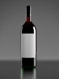 Une bouteille de vin rouge Image libre de droits