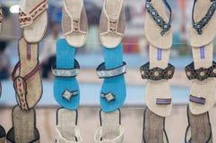 Une boutique complètement des chaussures Photographie stock libre de droits
