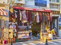 Une boutique turque d'épice dans une rue de Bodrum du centre Mugla, Turquie Photographie stock libre de droits