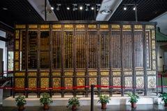 Une branche du musée de Guangdong, consacrée aux collections de valeur historique très élevée de l'art en bois Image stock