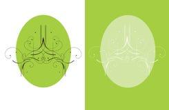 Une brochure décorative verte Image libre de droits