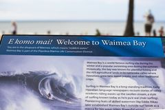 Une brochure de baie de Waimea photo stock