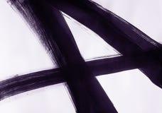 Une brosse dessin?e directement trois lignes de intersection et former le num?ro quatre illustration libre de droits