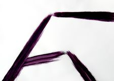 Une brosse trace des lignes droites ? diff?rents angles photographie stock