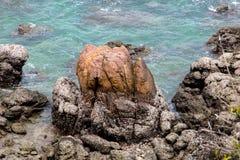 Une côte sur l'île dans le Golfe thaïlandais Photos stock