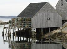 Une cabane de langoustine Images libres de droits