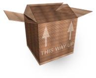 Une caisse d'emballage du carton 3d Image libre de droits