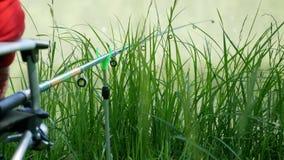 Une canne à pêche préparée pour le grand crochet images libres de droits