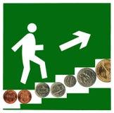 Une carrière financière réussie. Images stock