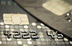 Une carte de crédit haute plus étroite photographie stock libre de droits
