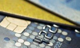 Une carte de crédit haute plus étroite Images libres de droits
