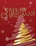 Une carte de Noël d'or Photos libres de droits