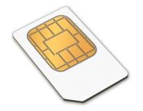 Une carte de sim Photos libres de droits