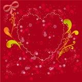 Une carte/fond colorés de valentine Image stock