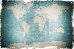 Une carte grunge du monde Photo stock