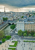 Une carte postale de Paris Images stock