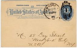 Une carte postale e des USA de cent Images stock