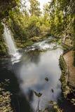 Une cascade dans le paradis, Antalya photo stock