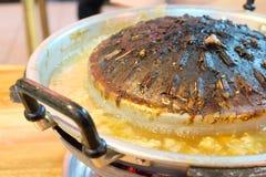 Une casserole de gril, style thaïlandais de buffet de barbecue photographie stock libre de droits