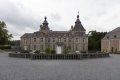 Une caste dans les Ardennes en Belgique photo libre de droits