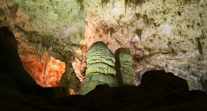 Une caverne rougeoyante, cavernes de Carlsbad Images stock