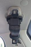 Une ceinture de sécurité et une boucle pour l'arrière soutiennent des passagers images libres de droits